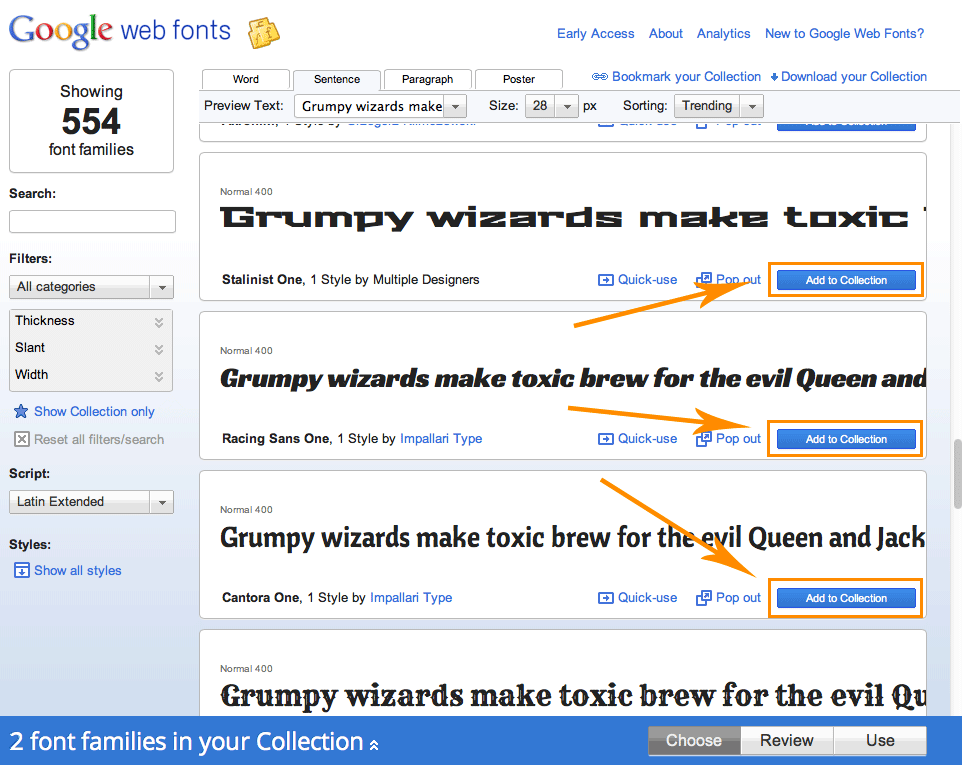 Poster size fonts in word
