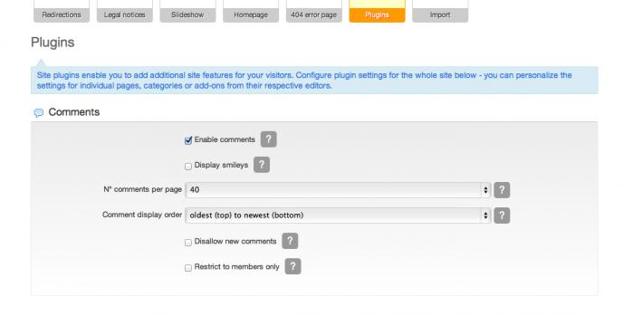 1 enabling website comments