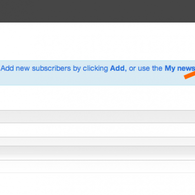 2 adding newsletter subscribers