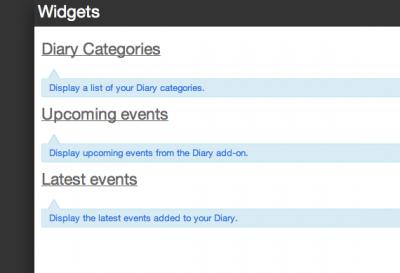 2 diary site widgets