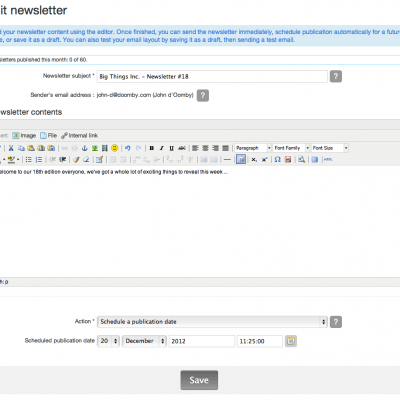 5 creating sending newsletters