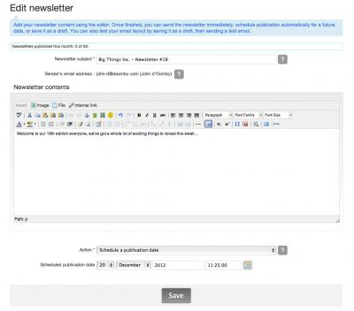 5 creating sending newsletters