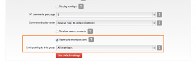 8 restricting website comments