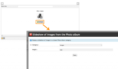 Add album slideshow
