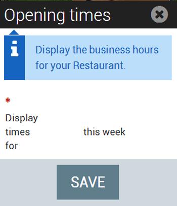 Details widget opening hours
