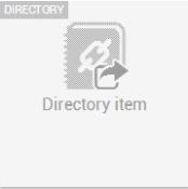 Directory item widget