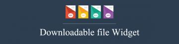 Downloadable widget