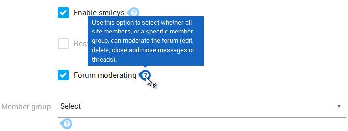 Forum moderating 1