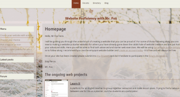 Website Proficiency with Mr. Fox