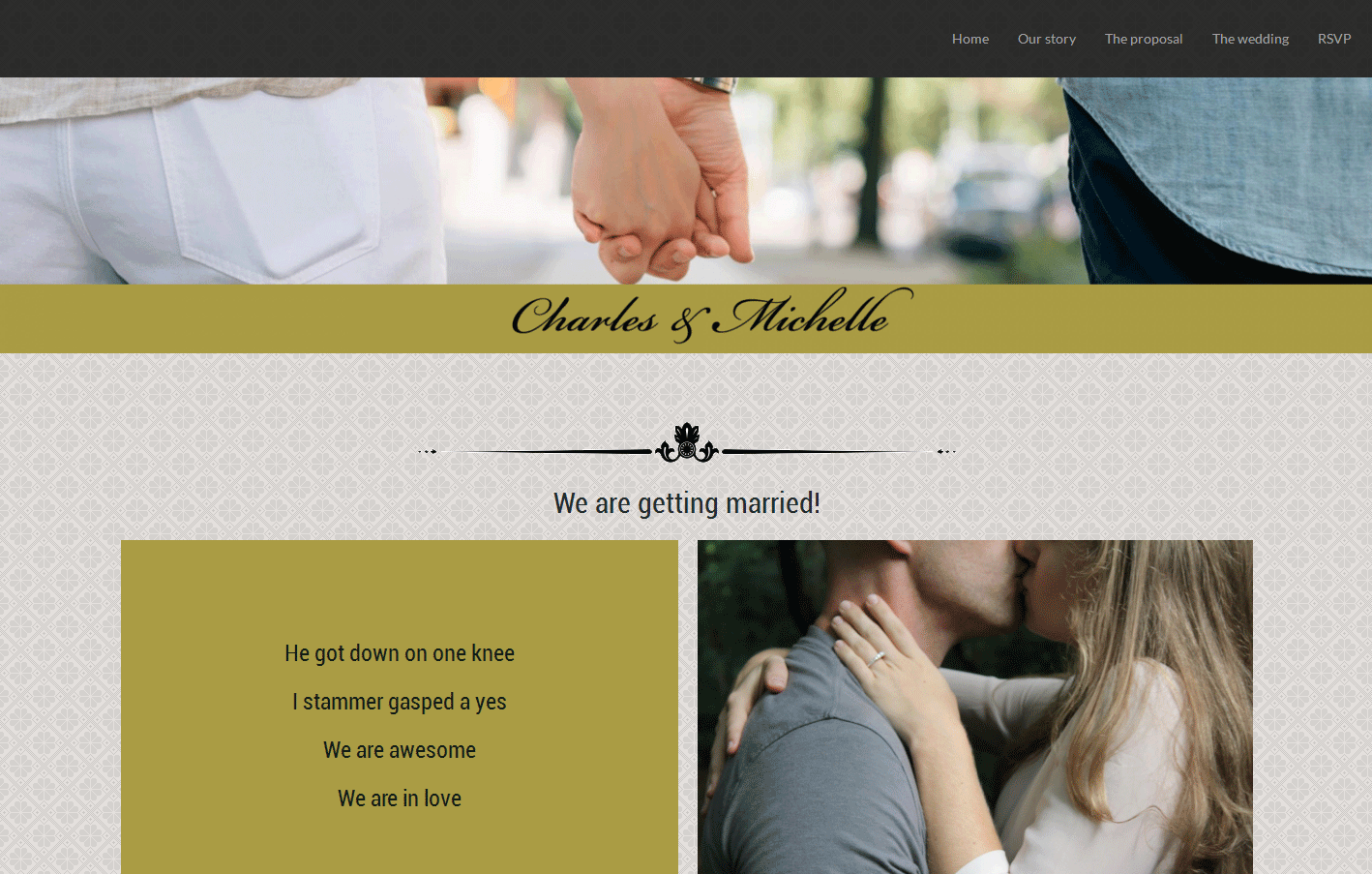 Marriage demo website