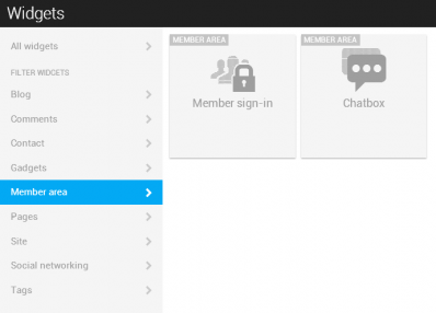 Member sign in widget