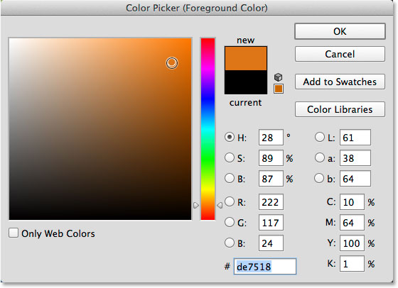 Ps color picker