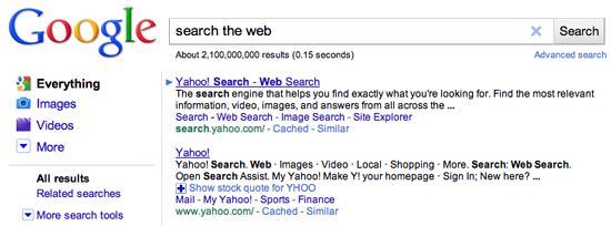 Search engines are designed to provide impartial results