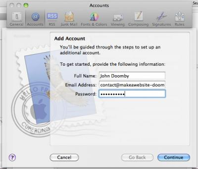 Set up mac mail 2