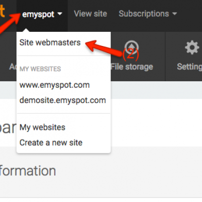 Adding site webmasters