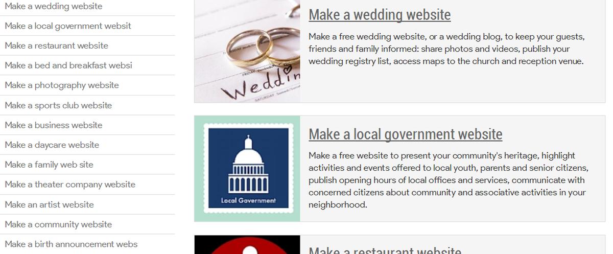 Site lists