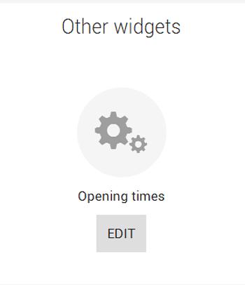 Widget opening hours